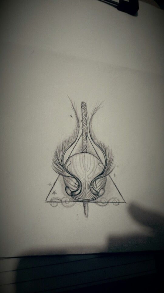 Harry potter tattoo sketch
