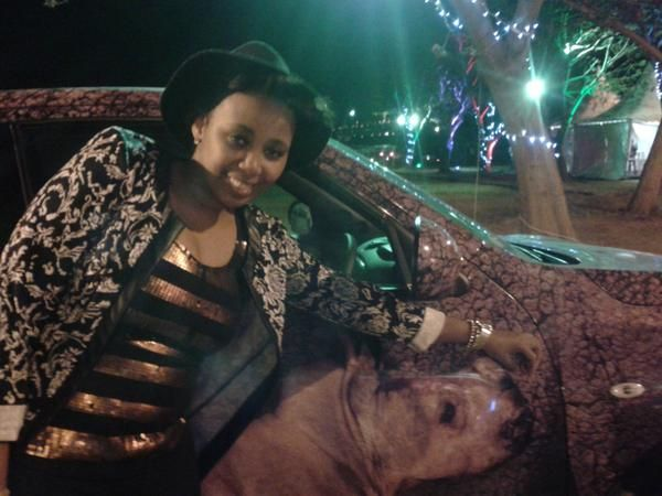 Gagasi FM presenter Dj Le Soul took time to take a pic with the Rhino Car! You rock Le Soul!