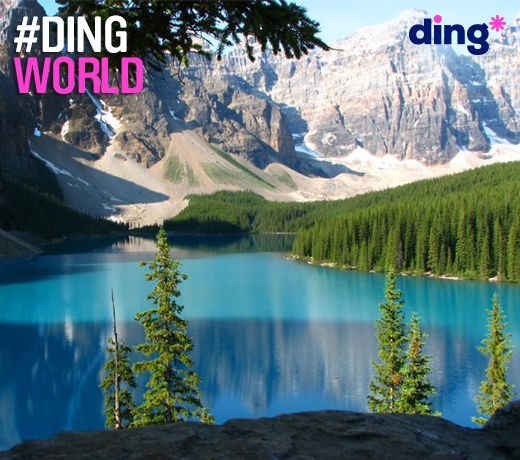 A spectacular view of Banff, Alberta in Alberta! What is your favourite national park to visit? #dingworld