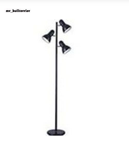 New Black Modern Living Room 3 Light Pole Lamp Reading