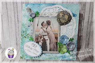 Pracownia artystyczna IKart: Miłość na morzu - kartka ślubna