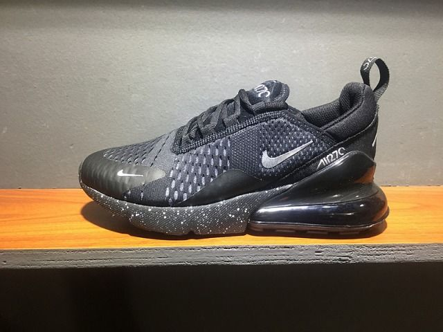 73b746ad26c9 Adaptable Nike Air Max 270 Retro All Black Men s  Women Sneaker Shoes  Walking AH8050-202 - NikeMaxZone.com