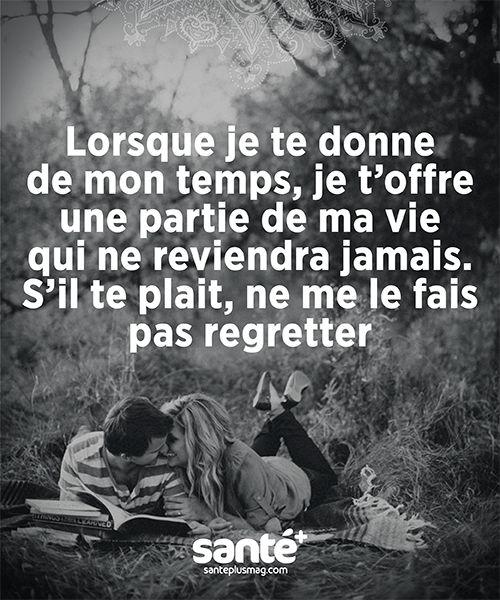 Citations, vie, amour, couple, amitié, bonheur, paix. Prenez soin de vous sur: http://www.santeplusmag.com/