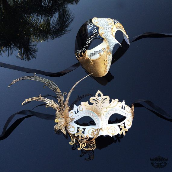 Couples Masquerade Mask His & Hers Masquerade Mask by 4everstore