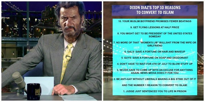 Dixon Diaz's Top 10 Reasons To Convert To Islam