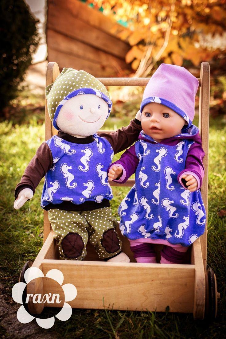 raxn: Puppenliebe mit Krümel und Baby Born - Puppenkleidung selbst genäht