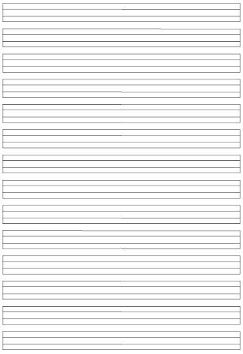 Schreiblinien für Klasse 1 bis Klasse 3
