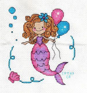 My Stitching Journal: Pink & Purple Mermaid