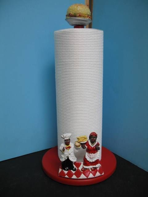 3d Black American Aunt Jemima Paper Towel Holder Kitchen Bar Decor Home Set New