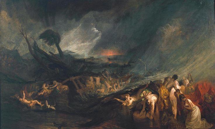 William Turner, THE DELUGE, 1805, Colore ad olio, Tate Collection