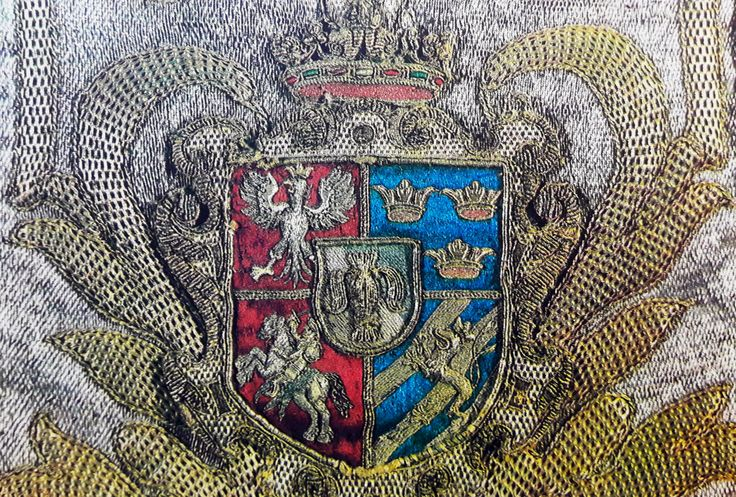 Detail of chasuble with the coat of arms of the House of Vasa by Anonymous from Poland, second quarter of the 17th century, Skarbiec Paulinów na Jasnej Górze, most probably donated by Prince Cardinal Charles Ferdinand Vasa