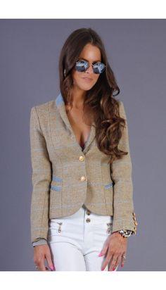 Holland Cooper sporting jacket in shortbread tweed