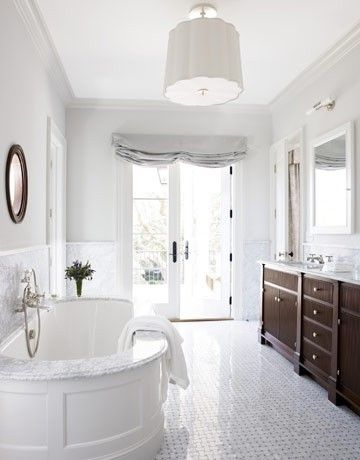 master bathroom in whites by beulah