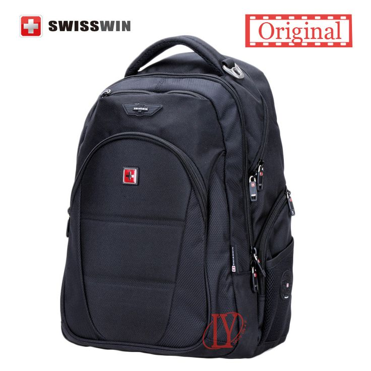 Swisswin men backpack mochilas Swissgear Men's backpacks 12-15.6 Inch Black Laptop Backpacks for teenage boy mochilas hombres