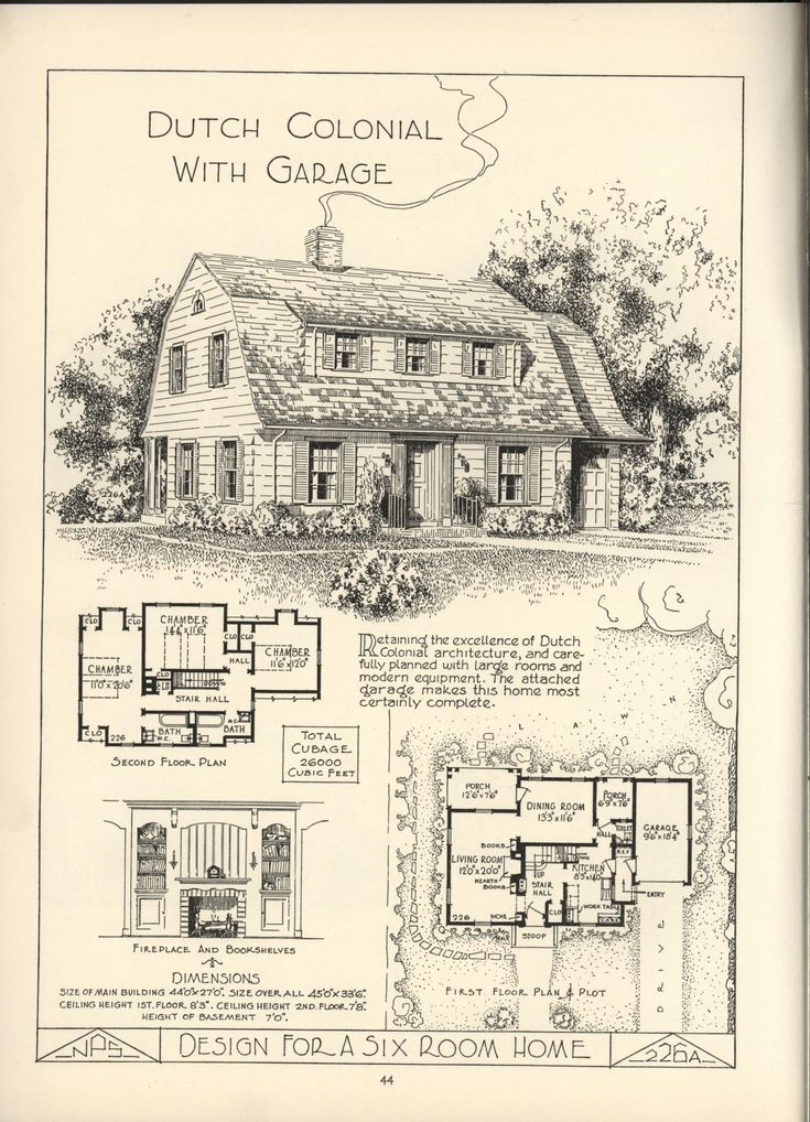 203 best dream home plans images on pinterest vintage for Dutch colonial plans
