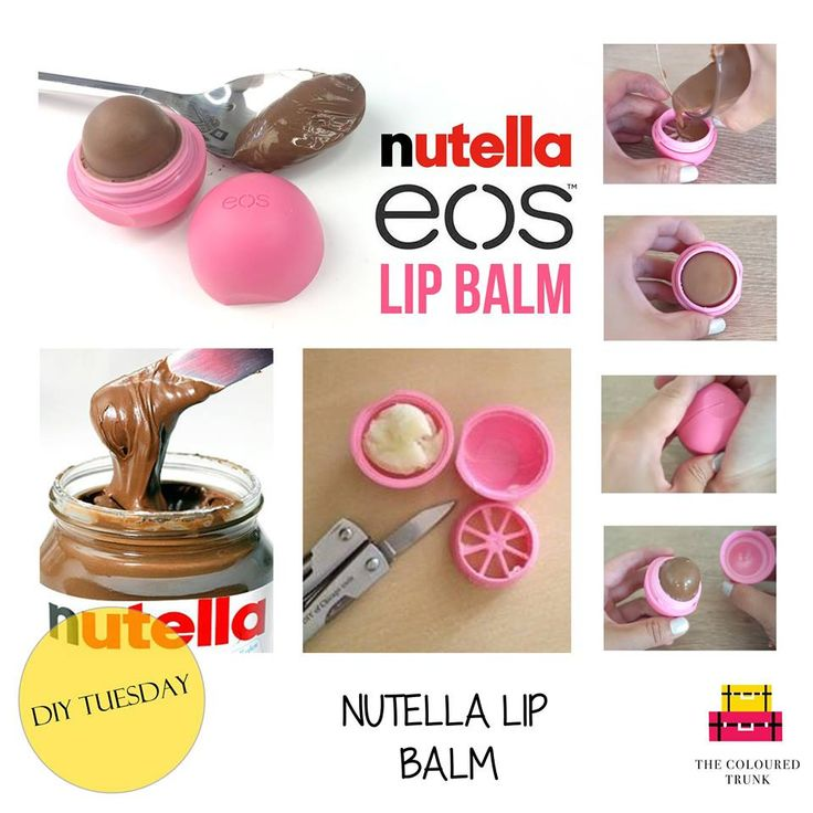 If you can't get enough of that Nutella from your kitchen, its about that you started carrying it in your bag!   Watch this video https://www.youtube.com/watch?v=C91wjI6tzNo to get complete steps to making your very own Nutella lip balm. Here's all you'll need: 1) EOS lip balm: eos 2) Nutella: Nutella 3) Beeswax: Green Junction 4) Edible coconut oil:  5) A regular, clean paper cutter #Nutella #lipbalm #EOS #DIY #DIYTUESDAYS #TheColouredTrunk #TCT