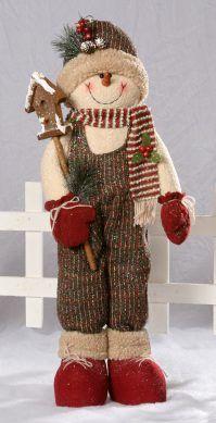 Glitter Folk Snowman with Birdhouse