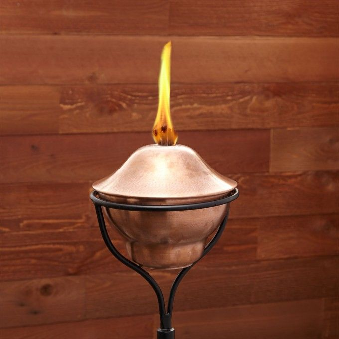 Classic Copper Garden Torch with Traditional Yard Stake - Antique Copper - Outdoor Accessories - Outdoor