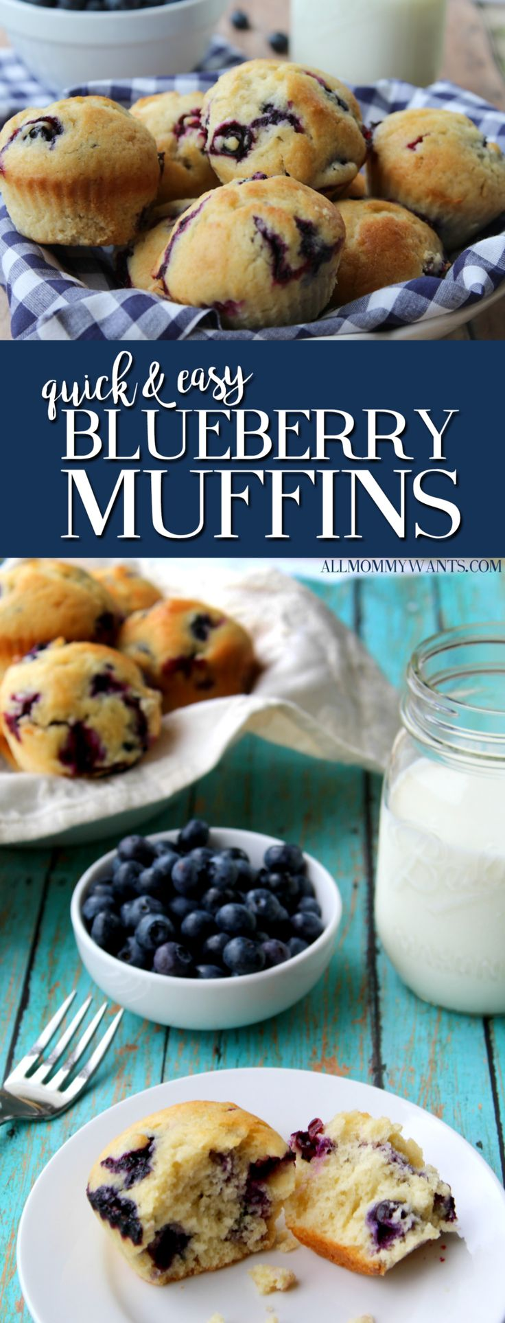 Recipe: Quick and Easy Blueberry Muffins | All Mommy Wants