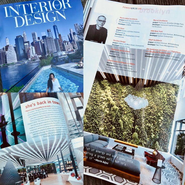 Two plantwalldesign vertical gardens featured in Interior Design Magazine's September issue.