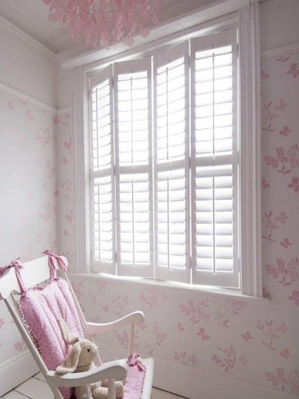 Childrens Nursery Plantation Shutters #laylagrayce And #newportcottages
