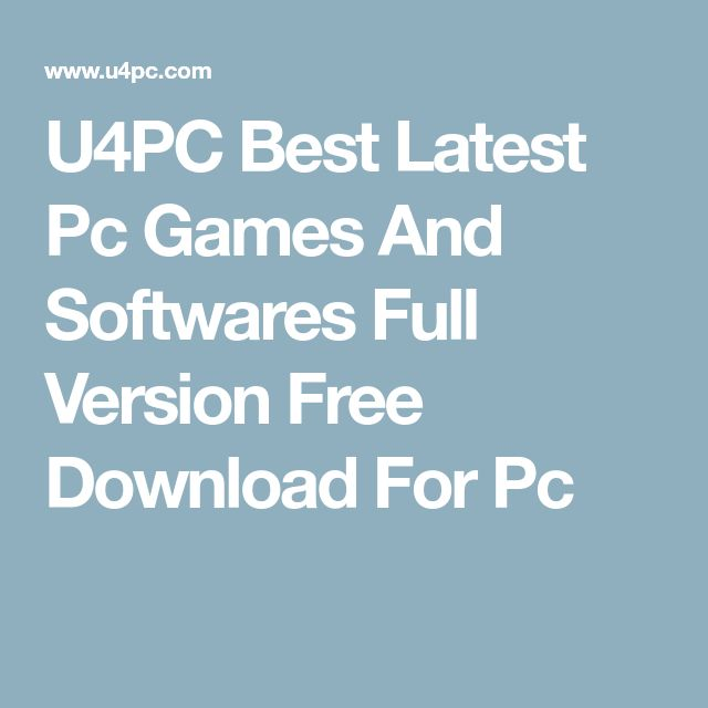 U4PC Best Latest Pc Games And Softwares Full Version Free Download For Pc