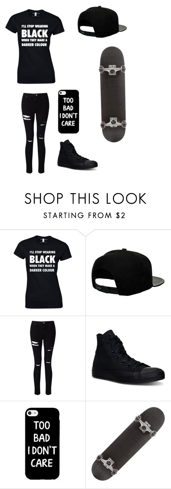 """""""Untitled #77"""" by darksoul7 ❤ liked on Polyvore featuring '47 Brand, Miss Selfridge and Converse"""