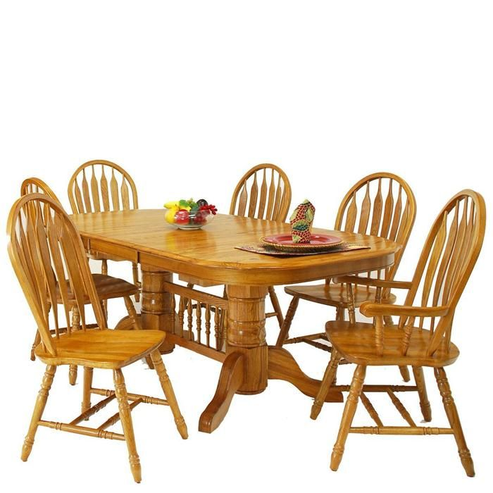 American Classic 7 Piece Dining Set In Harvest