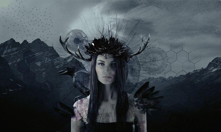 Raven girl by ednasnake.deviantart.com on @DeviantArt