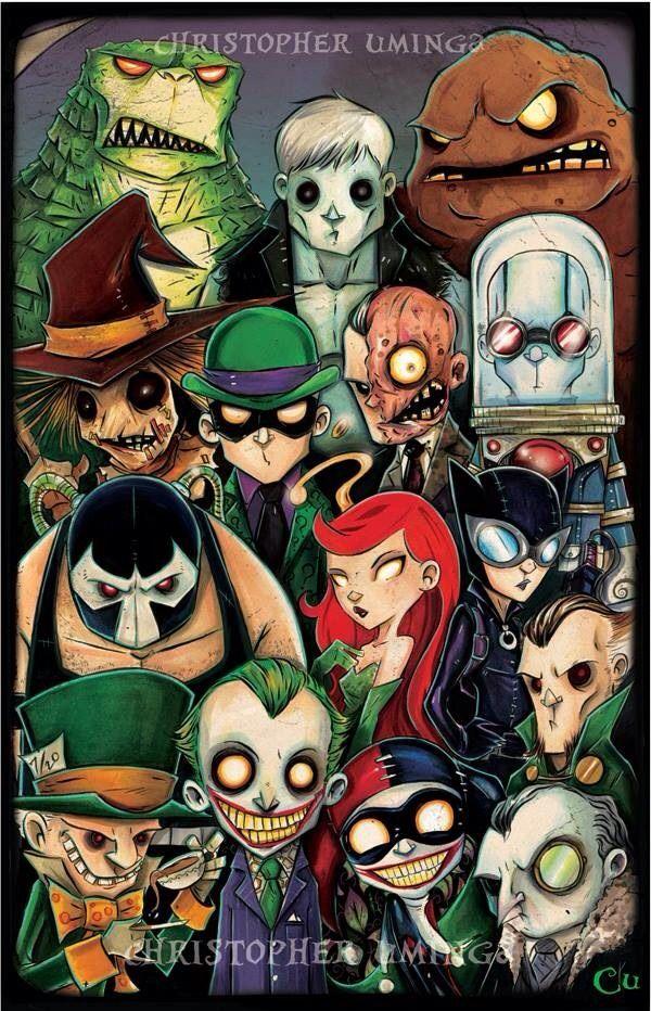 Gotham City Villains -( Copic on Bristol w/ Photoshop filters )