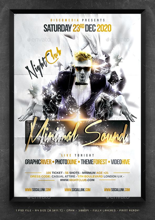 DJ Party Flyer Template PSD. Download here: http://graphicriver.net/item/dj-party-flyer-template/16115203?ref=ksioks