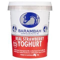 Barambah Organics Yogur de fresa 500g real, Frdg2-Lácteos - HFM, Harris mercados…