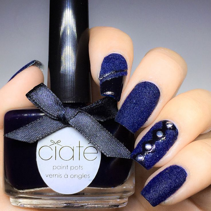 Mode Världen: Tips ! Coola snygga Blå velvet Manicure naglar till festen !