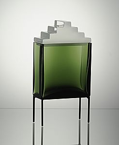 canopic jar 5: unique glass piece by finnish designer markku salo
