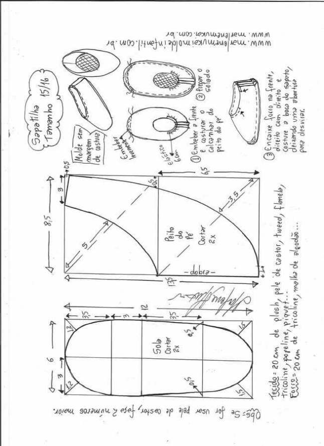 Patrón zapatillas infantiles de tela Patrón para hacer una cómodas zapatillas infantiles para casa, todas las tallas desde el numero 13/14 al 33/34. Zapatillas de tela nº 13/14 :: Zapatillas de tela nº 15/16 :: Zapatillas de tela nº 17/18 :: Zapatillas de tela nº 19/20 :: Zapatillas de tela nº 21/22 :: …