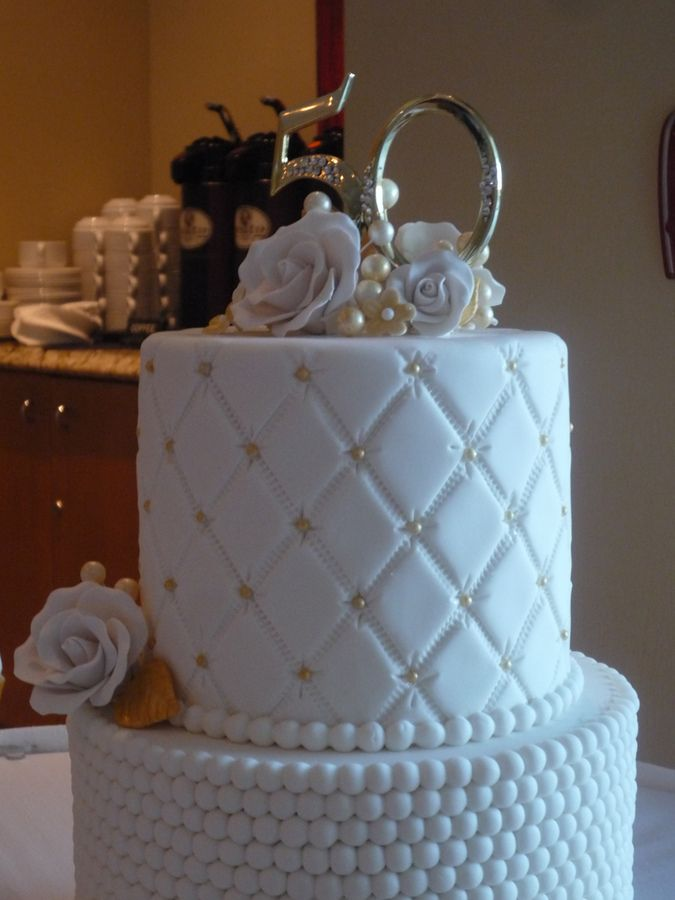 36 best 50th anniversary party ideas images on pinterest never thought of using my pearl mold like that beautifully done 50th anniversary cake negle Image collections