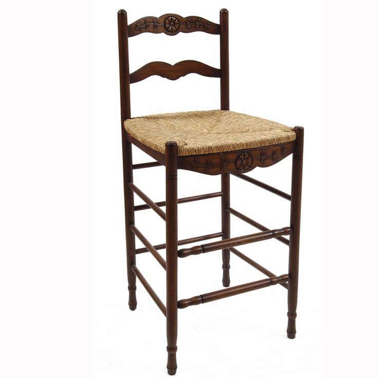Our Provence Stool features hand carved details available