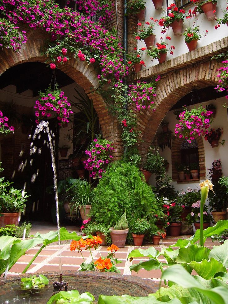 Patio in Barrio de Miraflores, Cordoba, Spain UNESCO World Heritage