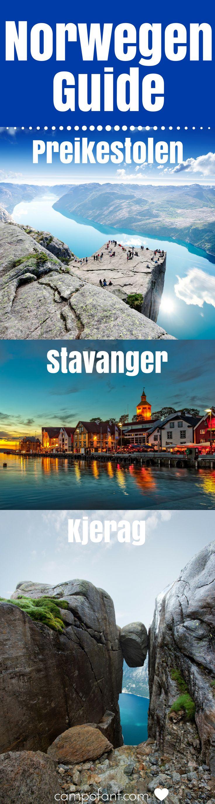 In diesem Norwegen Guide nehmen wir euch mit nach - Stavanger, - zum Preikestolen, - Rogaland, - zum Kjerag, - und zum Lysefjord. Wir sagen euch, was ihr bei einer Wanderung zum Preikestolen beachten müsst, welche Sehenswürdigkeiten es in Stavanger und der Region Rogaland gibt und wie ihr zum Kjerag kommt. Eine der schönsten Regionen Norwegens wartet nur darauf entdeckt zu werden. Mit unserem Norwegen Guide weißt du, was es zu erleben gibt. #norwegen #guide #preikestolen #kjerag #rogaland…