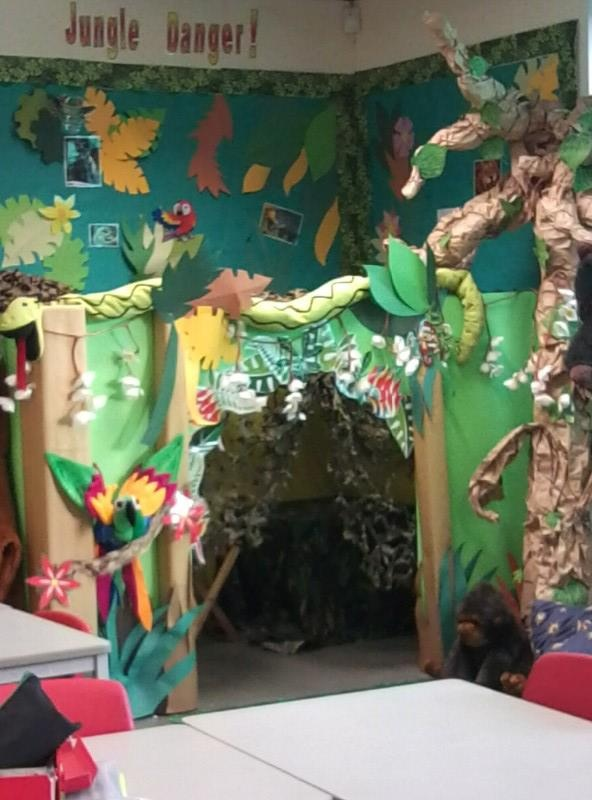 17 best images about jungle explorers on pinterest for Jungle themed playroom