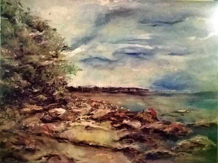 Klif - Orłowo jest Piękne, obraz olejny - DoraMaria - Obrazy olejne