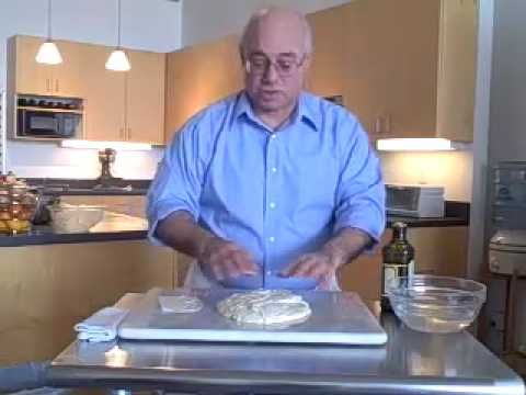 The Stretch and Fold Technique from Peter Reinhart- good for wet dough