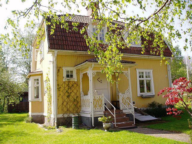 Yellow Swedish cottage