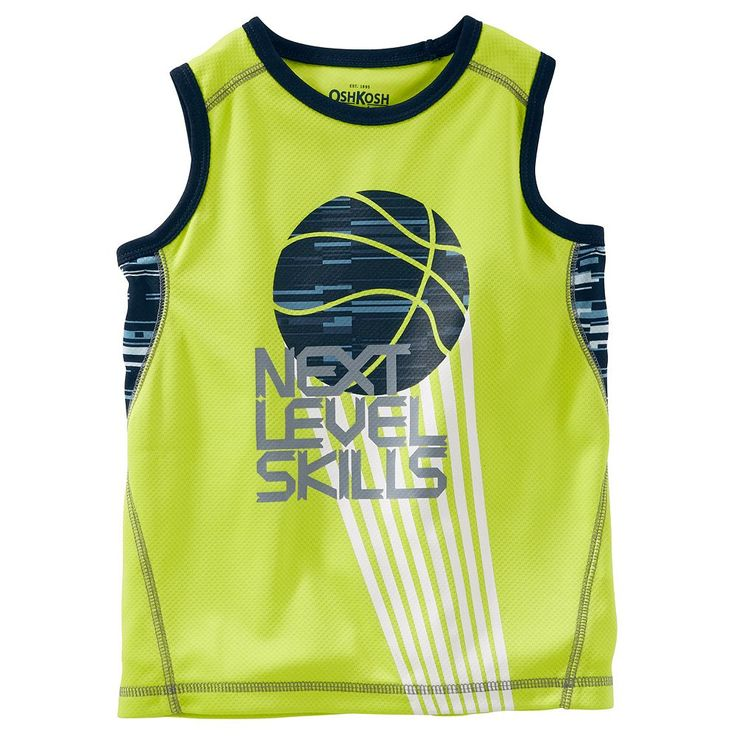 "Boys 4-12 OshKosh B'gosh® ""Next Level Skills"" Basketball Tank Top, Size: 10, Green"