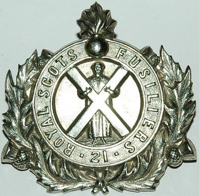 ROYAL SCOTS FUSILIERS 2nd PATTERN PIPERS BADGE