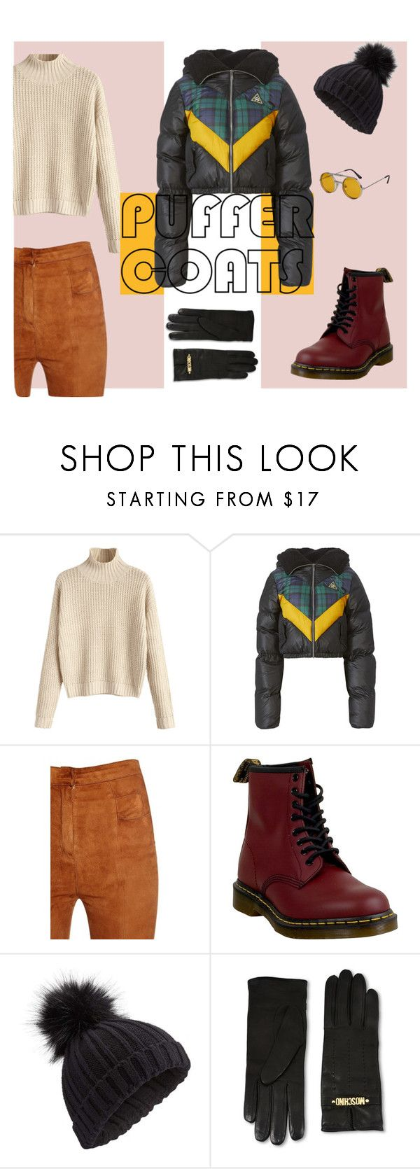 """stay puff marshmallow fashionable cousin"" by galilea-dz ❤ liked on Polyvore featuring Puma, Balmain, Dr. Martens, Miss Selfridge, Moschino, Spitfire and puffercoats"