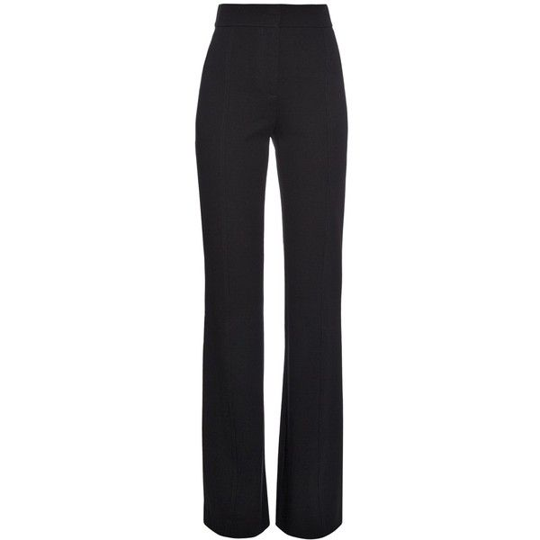 Derek Lam High waist wide-leg trousers ($839) ❤ liked on Polyvore featuring pants, trousers, bottoms, calças, black, high waisted black trousers, flare leg pants, wide-leg pants, high waisted wide leg pants and highwaisted pants