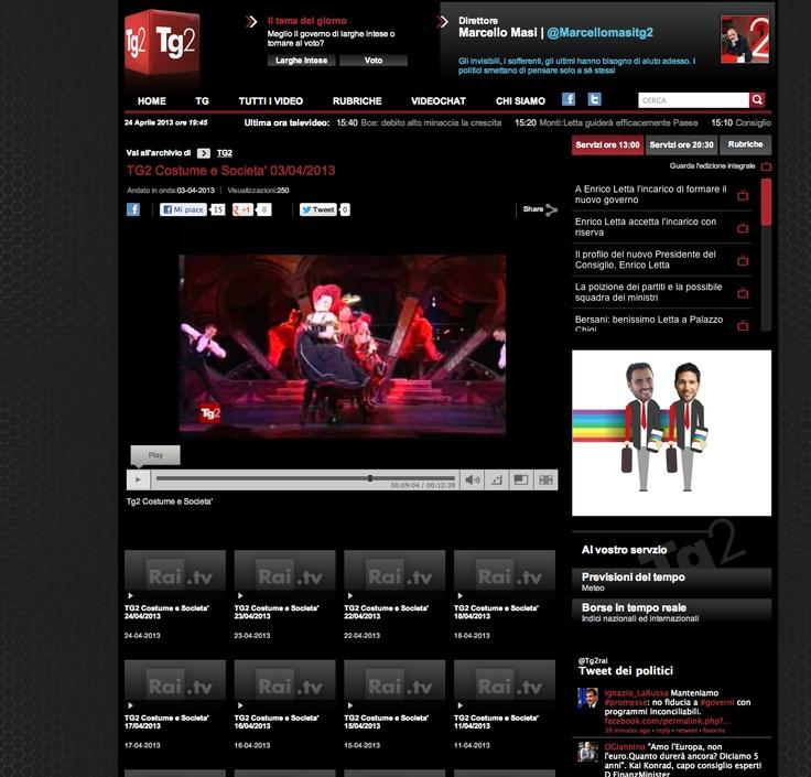 Vu L'Atelier French Cancan du Paradis Latin sur la chaîne italienne Rai -TG2 Costume e Societa ! #AtelierFrenchCancan #ParadisLatin #Cabaret #FrenchCancan #paris http://www.rai.tv/dl/RaiTV/programmi/media/ContentItem-19252cf5-0600-4eaf-afb3-16a281233dca-tg2.html?refresh_ce#p=1