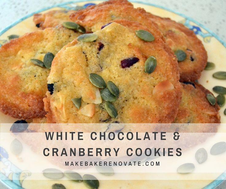 White chocolate and cranberry cookies   MakeBakeRenovate.com