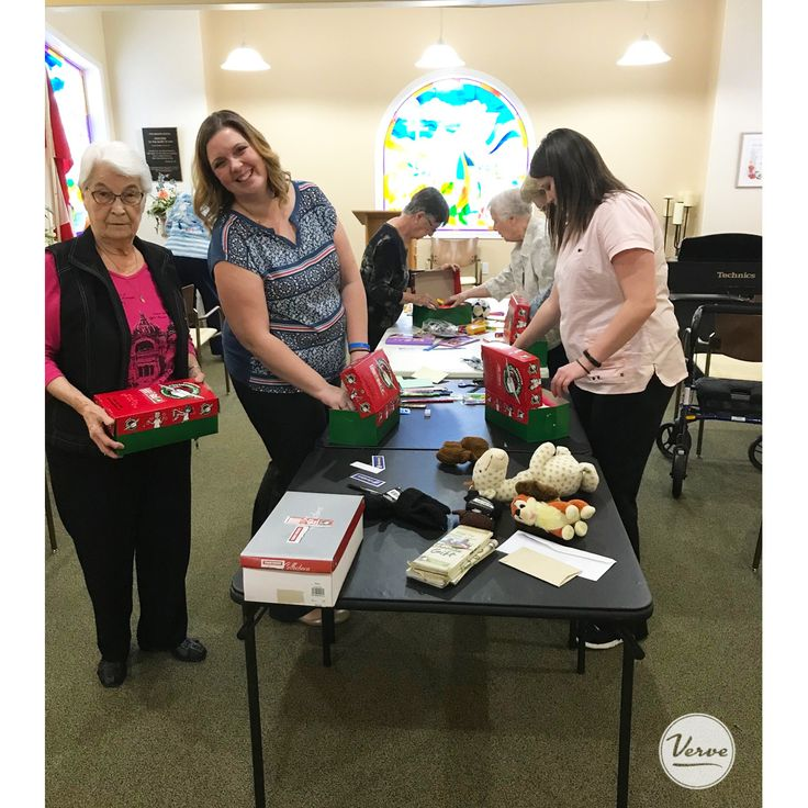 Dr James Hemstock Residents and staff worked together to fill shoeboxes for Operation Christmas Child  #operationchristmaschild #ipackedashoebox